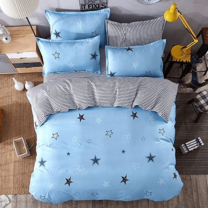 Little Stars Bedding Set Comforter in King Queen Double and Twin size