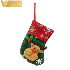 Lovely Christmas Stockings Socks - Elk
