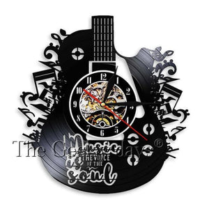 Music Is Soul Vinyl Clock - Without Led
