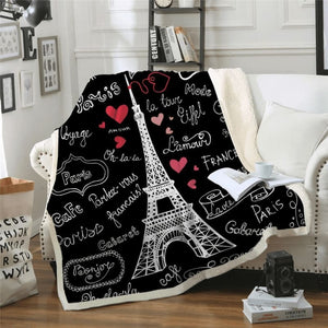 Paris Tower Blanket