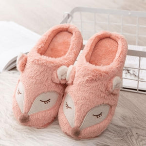 Pink Deer Slippers