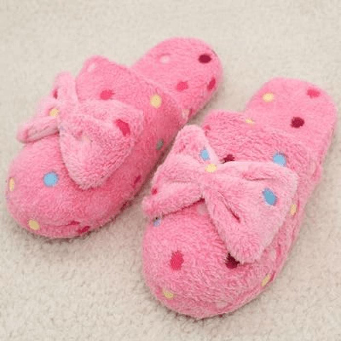 Pink Dot Slippers
