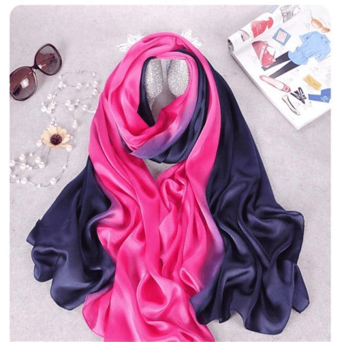 Pink/Purple Silk Scarf