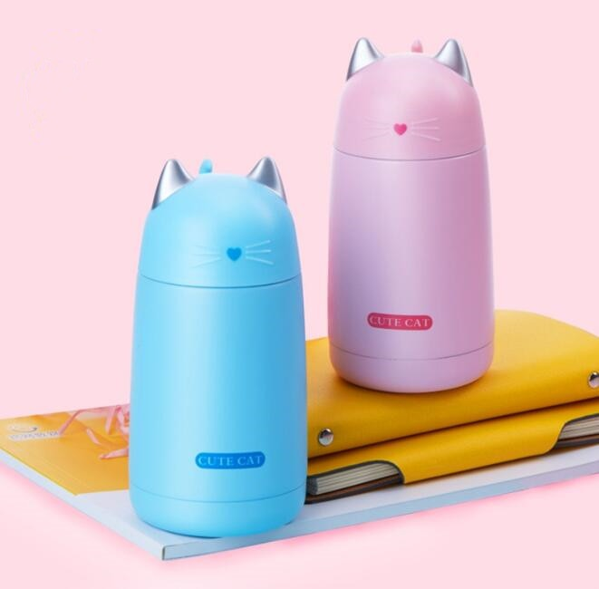 Cute Cat Insulated Travel Bottle