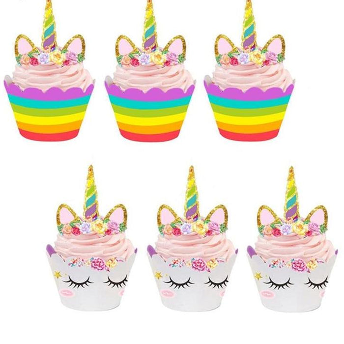 48pcs Cute Decorative Unicorn Cupcake