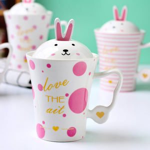 Pink Rabbit Coffee Mug