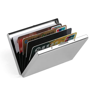 Aluminum Antimagnetic (RFID Blocking) Card Holder Wallet for  Women or Men