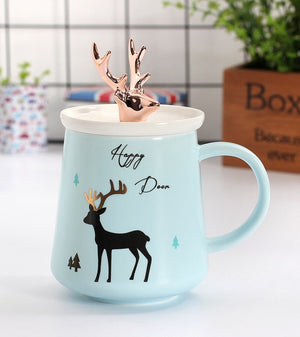 Gold Deer Coffee Mug
