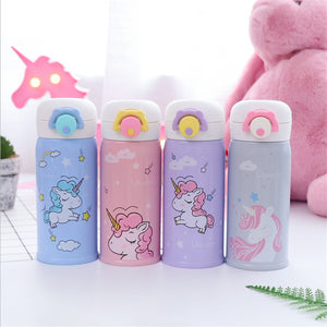 Unicorn Insulated Thermos Water Bottle with Strainer