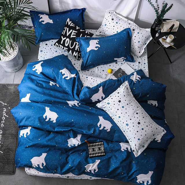 Polar Bear Bedding Set Comforter in King Queen Double and Twin size