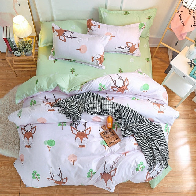 Bambi Deer Bedding Set Comforter in King Queen Double and Twin size