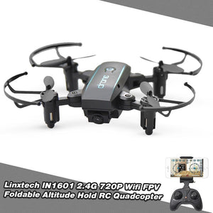 2.4G 0.3MP Wifi FPV Foldable Altitude Hold RC Drone Quadcopter
