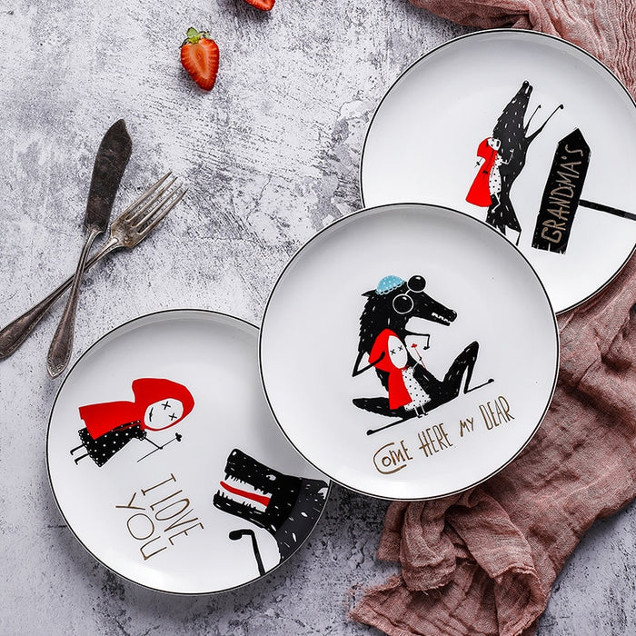 Little Red Riding Hood Plates