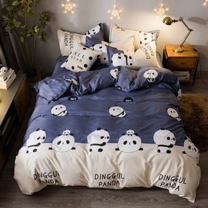 Cartoon Panda Pattern Bedding Sets Bed Cover