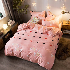 I Love Only You Pink Bedding Set