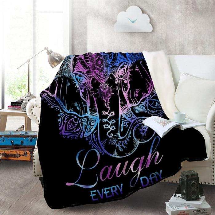 Laugh Every Day Blanket
