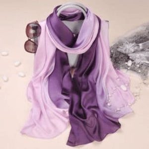 Purple/pink Silk Scarf