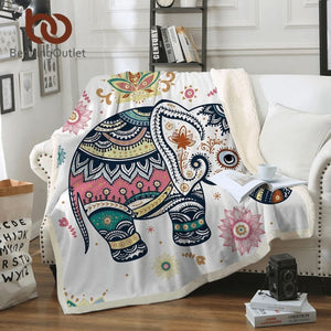 Rainbow Elephant Blanket