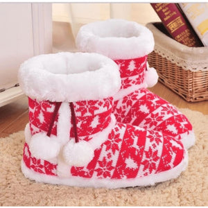 Red Snowflakes Slippers