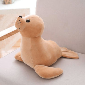 Sea Lion Plush - Brown / 35Cm