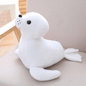 Sea Lion Plush - White / 35Cm
