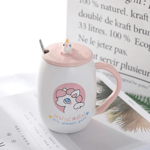 Sooo Cute Unicorn Coffee Mug - Circles