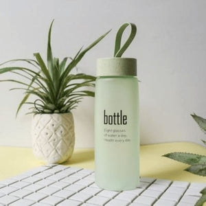Transparent Water Bottle - Green