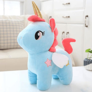 Unicorn Plush Toy - Blue