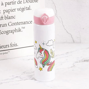 Unicorn Water Bottle - White 1