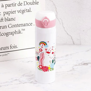 Unicorn Water Bottle - White 2
