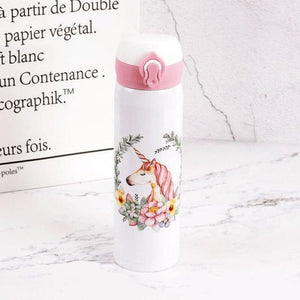 Unicorn Water Bottle - White 3