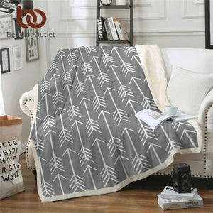White Feather Arrows Blanket
