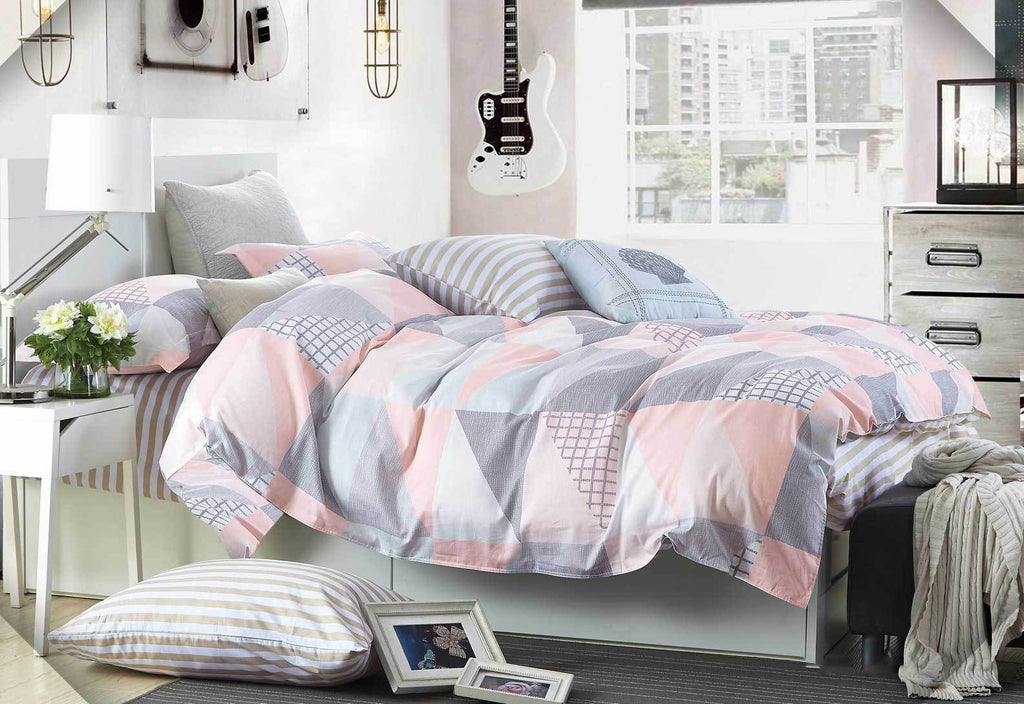 Pastel Rio Quilt Cover Set / Fitted Sheet / Options from Luxton 100% Cotton Collection