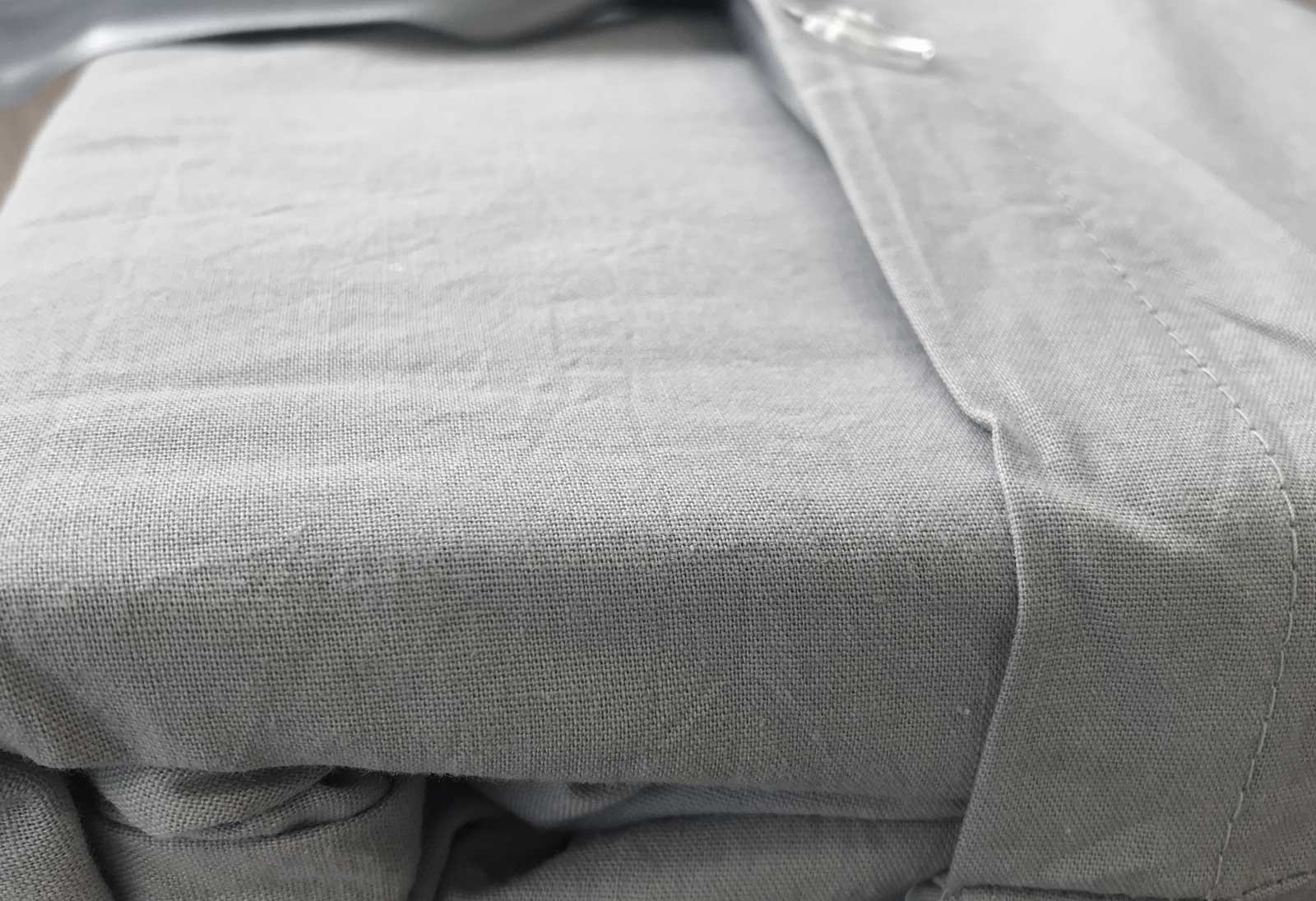 Pure Cotton Vintage Washed Pewter Fitted Sheet