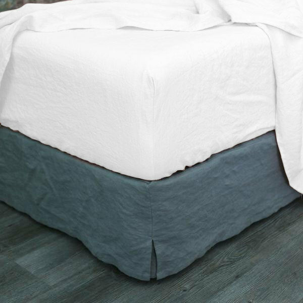 White Vintage Washed Fitted Sheet