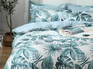 Luxton Clive Tropical Aqua Blue Quilt Cover Set