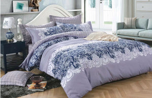 Luxton Presley Violet Quilt Cover Set in Queen/ King Size