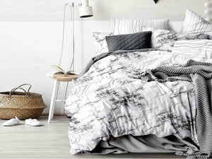 Luxton Marble Quilt Cover Set in Queen/ King Size