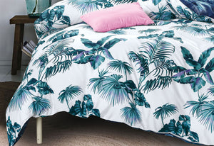 Mirth Tropical Blue Quilt Cover Set