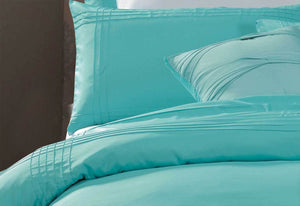 Aqua Turquoise  Valenza Quilt Cover Set in King / Queen Size