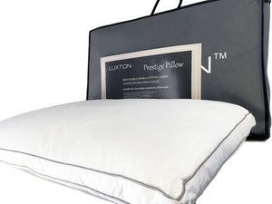 Luxton Prestige Pillow with Japara Cotton Casing cover (Single Pack)