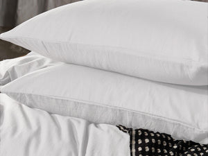 Luxton Pure Cotton White Vintage Washed Quilt Cover Set