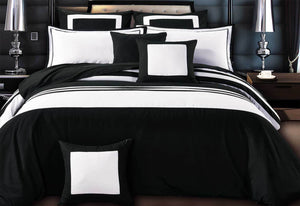Rossier Striped Quilt Cover Set