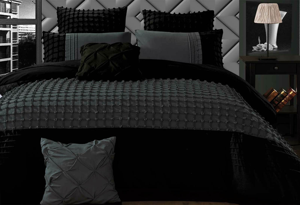 Cossette Stone Grey Quilt Cover Set