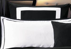 Black White Striped Quilt Cover Set by Luxton