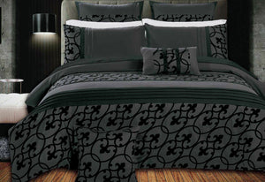 Dursley Grey and Black Quilt Cover Set