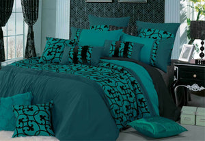 Lyde Teal Quilt Cover Set