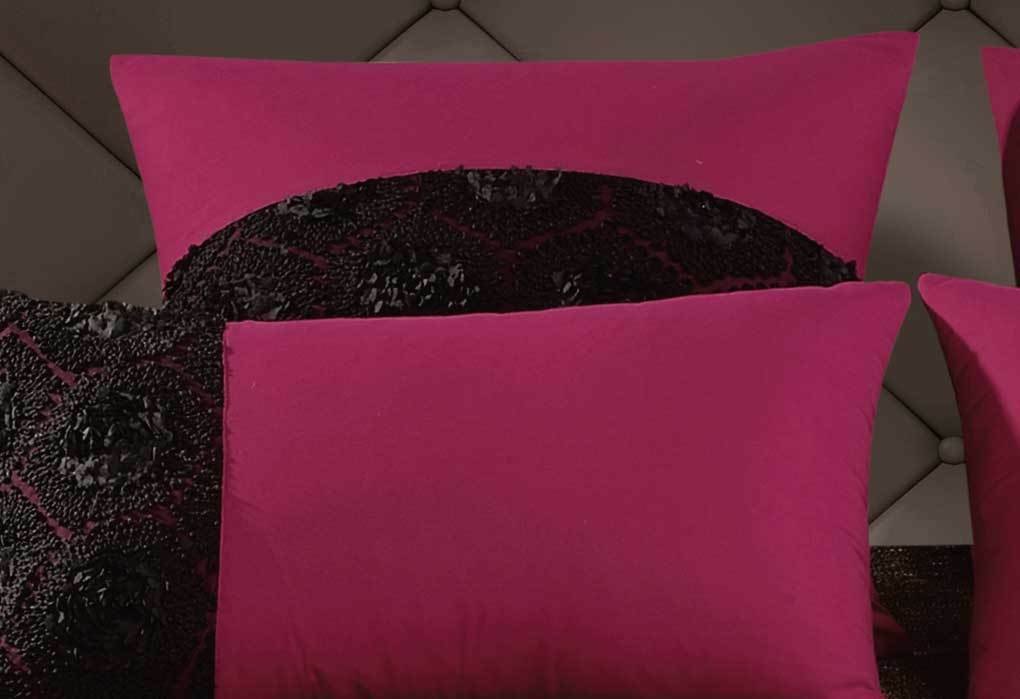 500TC Cotton Sateen Pink Fitted Sheet