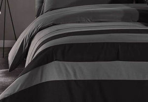Iena Grey Black striped Quilt Cover Set