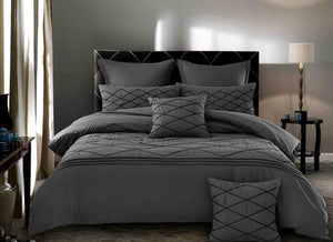 Alden Grey Quilt Cover Set